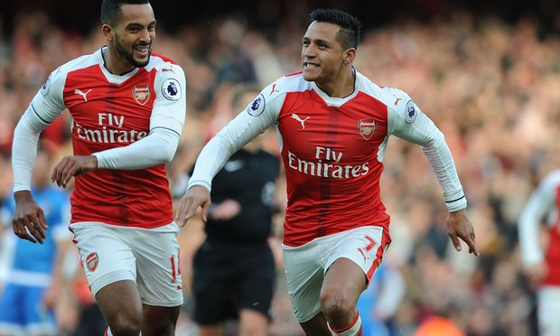 Dangerous Alexis Sánchez the riving force of Arsenal's attack