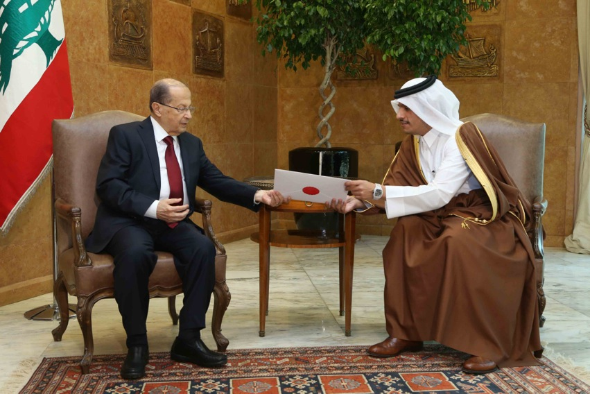 Qatar's Foreign Affairs Minister in Beirut