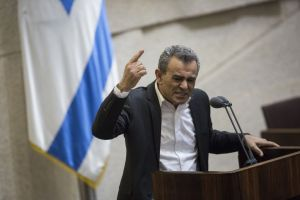 Joint (Arab) List MK Jamal Zahalka speaks during a plenum session in the assembly