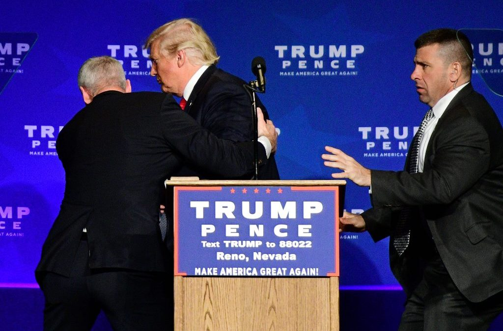 Trump Rushed off Stage in Reno due to Security Threat
