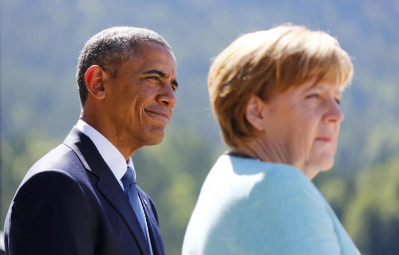 Obama,Merkel Stress Benefits of EU-U.S. Trade Deal