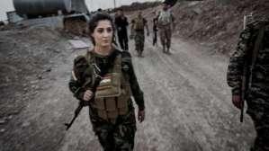 Joanna Palani, 23, who fought with both the Kurdish Peshmerga in Iraq and the YPG militia in Syria