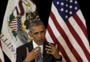 U.S. President Barack Obama speaks at the University of Chicago Law School in Chicago