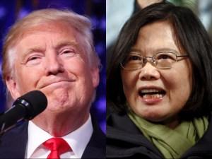 U.S. president-elect Donald Trump and Taiwan's Leader Tsai Ing-wen. Reuters