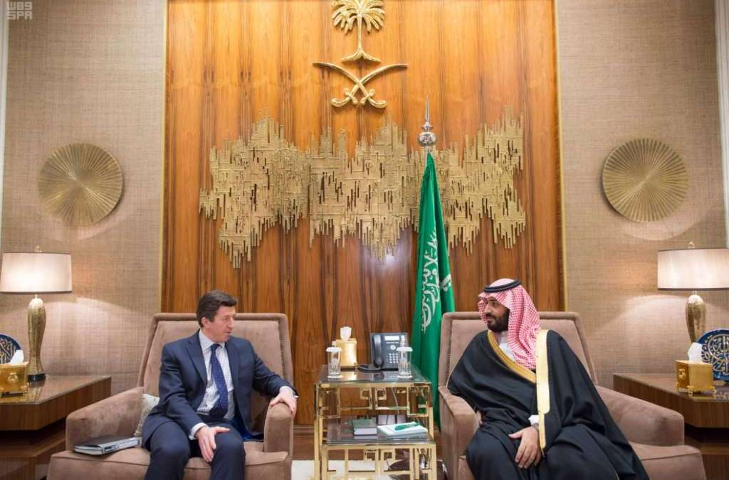 Deputy Crown Prince Receives UK's National Security Deputy Advisor