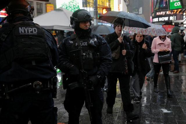 Sand Trucks to Secure Times Square on New Year's Eve