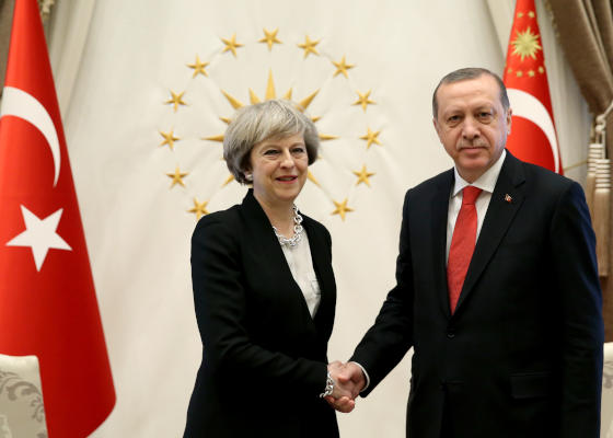 Britain's May Signs $125 Million Defense Equipment Deal with Turkey