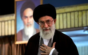 SUPREME LEADER: Ayatollah Ali Khamenei, shown at a 2009 clerical gathering, oversees an organization called Setad that has assets estimated at about $95 billion.