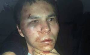 The alleged attacker of Reina nightclub, who is identified as Abdulgadir Masharipov, is seen after he was caught by Turkish police in Istanbul, Turkey, late January 16, 2017, in this photo provided by Dogan News Agency. Dogan News Agency (DHA)/via REUTERS