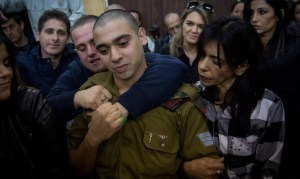 Elor Azariya during reading of verdict
