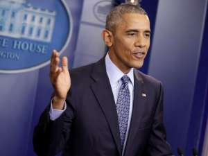 President Barack Obama speaks during his last press conference at the White House. REUTERS