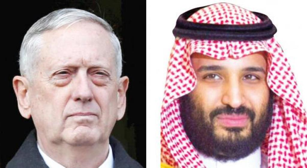 Saudi Deputy Crown Prince Discusses Mutual Cooperation with U.S. Secretary of Defense