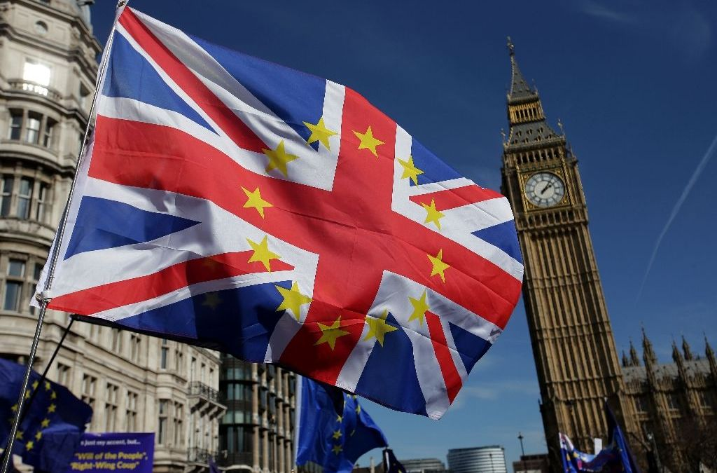 Britons March against Looming Brexit