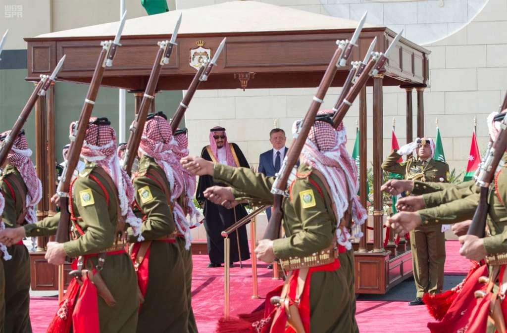 King Salman Arrives in Jordan for Arab Summit