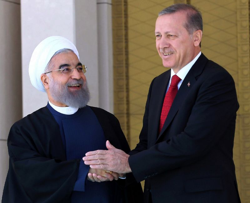 Erdogan Meets Rouhani following Angry Exchanges