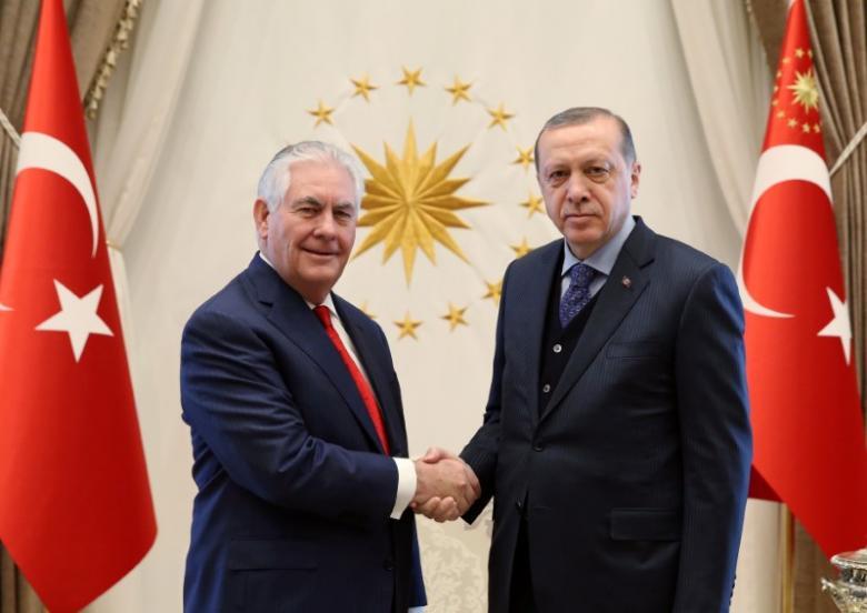 Erdogan Meets US Secretary of State, Urges Use of 'Legitimate' Actors in Syria