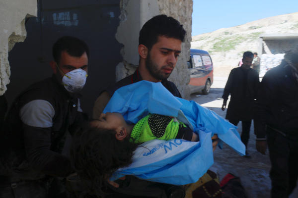58 Killed in Suspected Gas Attack in Syria's Idlib