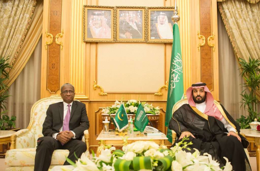 Deputy Crown Prince Discusses Bilateral Military Cooperation with Mauritanian Defense Minister