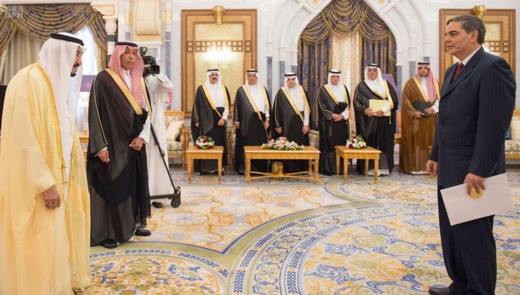 King Salman Receives Ambassadors' Credentials