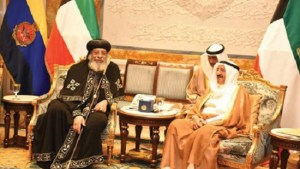 Egypt's Pope Tawadros meets with Kuwaiti emir on official visit