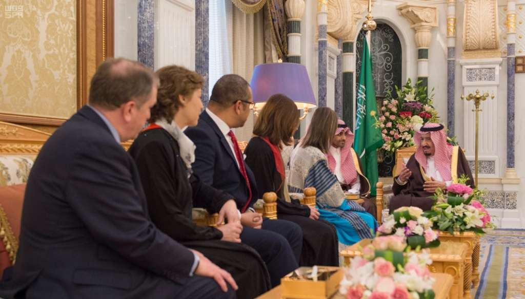 King Salman Receives Delegation from Middle East Group of British Conservative Party