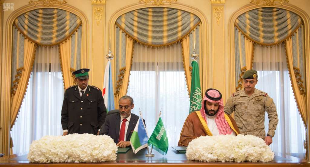 Deputy Crown Prince, Djibouti Defense Minister Sign Military Cooperation Agreement