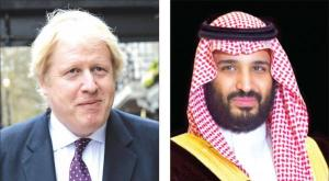 Prince Mohammed bin Salman and British Foreign Minister Boris Johnson
