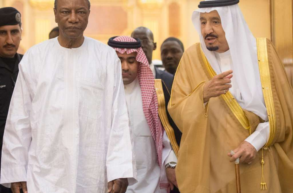 Custodian of the Two Holy Mosques Holds Talks with Guinea's President
