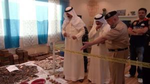 Confiscated arms in Kuwait were found in Al Abdali area near the Iraqi border