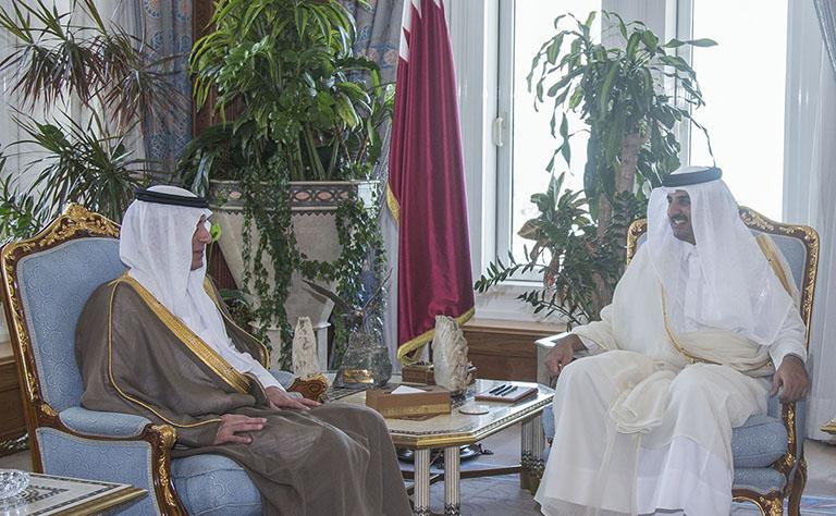 Emir of Qatar Receives Saudi Foreign Minister