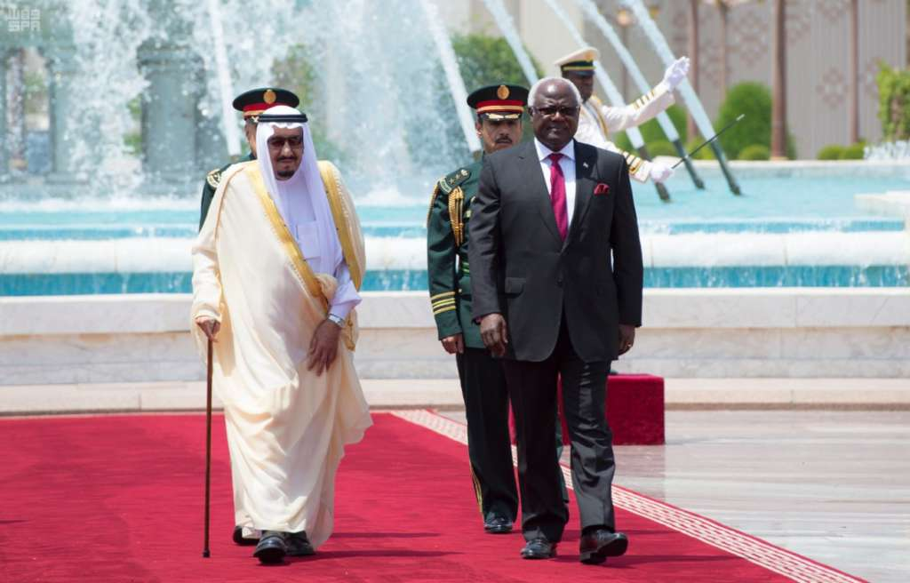 King Salman Discusses Bilateral Relations with President of Sierra Leone