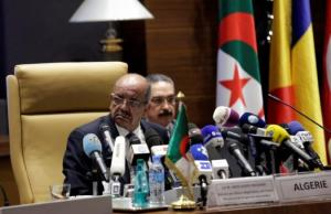 Abdelkader Messahel, Algeria's Minister for African and Maghreb affairs attends the meeting of Libya's neighbouring countries in Algiers