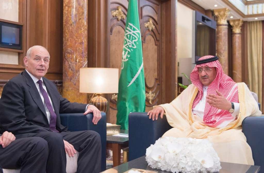 Crown Prince Receives US Secretary of Homeland Security