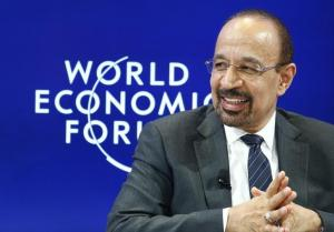 al-Falih Saudi energy minister attends the WEF annual meeting in Davos