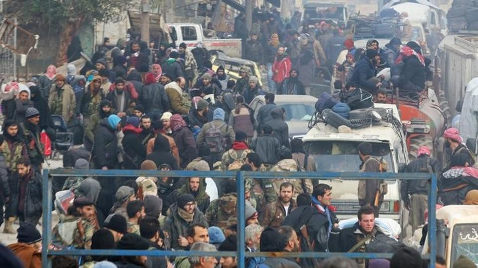 Major Evacuation of Fighters, Civilians since Beginning of War in Syria