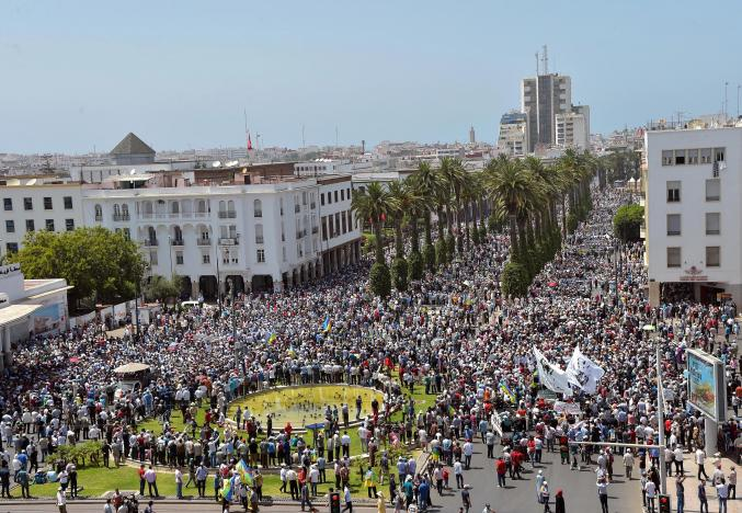 Protests in Rabat in Solidarity with Rif Movement