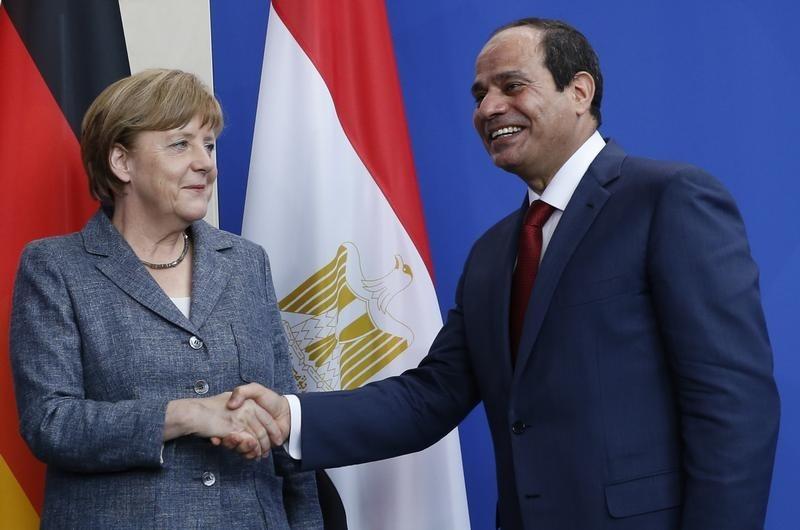 Fighting Terrorism Tops Sisi, Merkel Talks