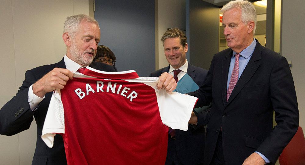 EU's Barnier Briefs Corbyn on Brexit