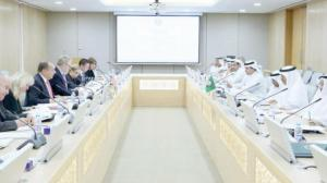 GCC and UK delegations during the meeting