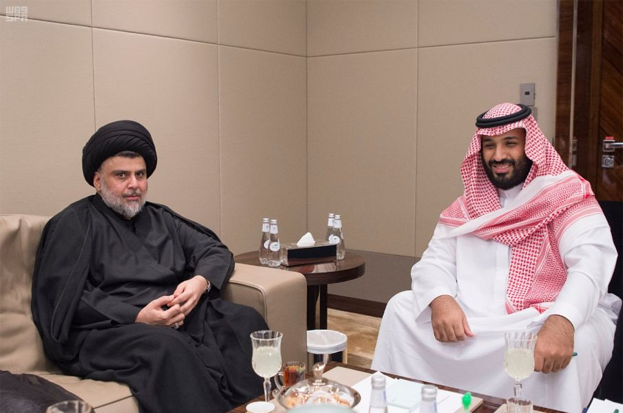 Deputy Custodian of the Two Holy Mosques Meets Iraq's Moqtada al-Sadr