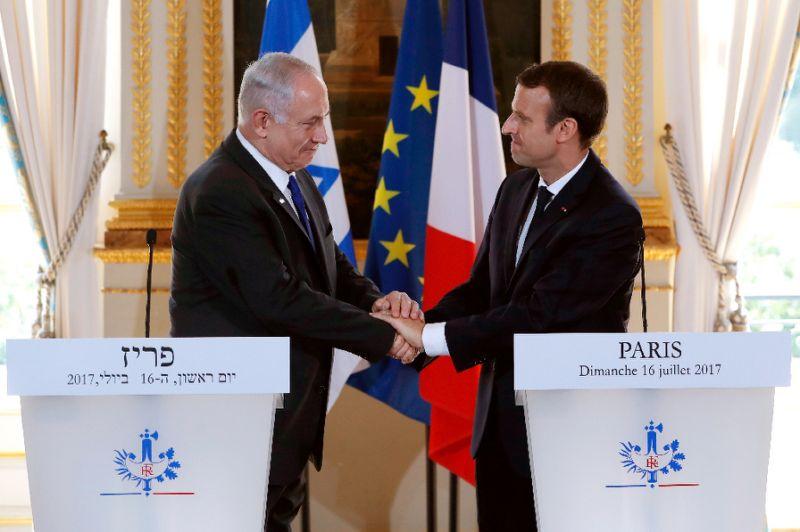 Macron Hosts Netanyahu in Paris without Launching New Peace Initiative
