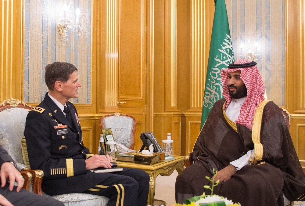 Vice Custodian of the Two Holy Mosques Meets with Commander of the US Central Command