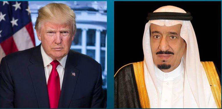 Saudi King, Crown Prince Congratulate Trump on Independence Day