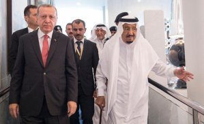 King Salman welcomes Turkish President Recep Tayyip Erdogan (SPA)