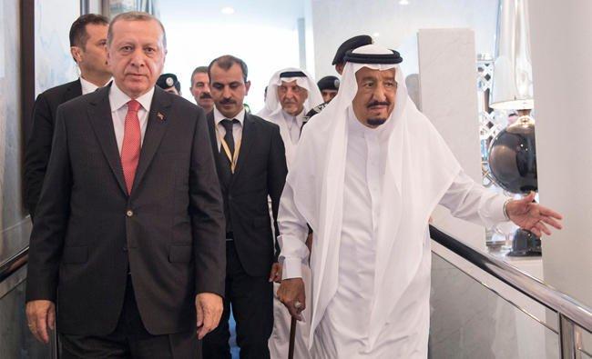 King Salman, Erdogan Discuss Efforts to Combat Terrorism