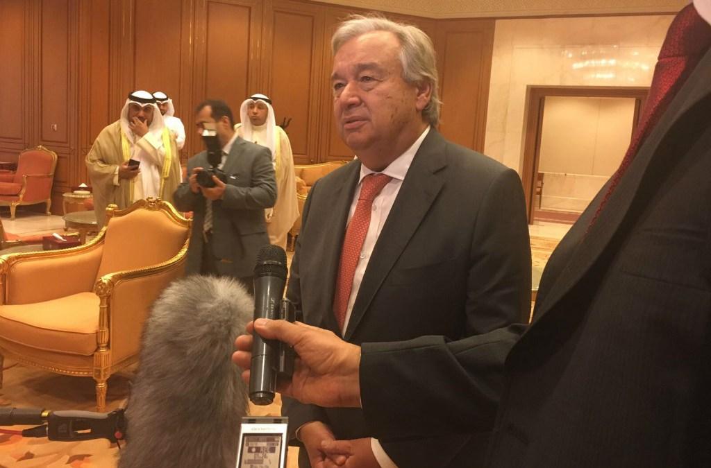 Guterres: We Support Kuwaiti Mediation to Solve Qatar Crisis
