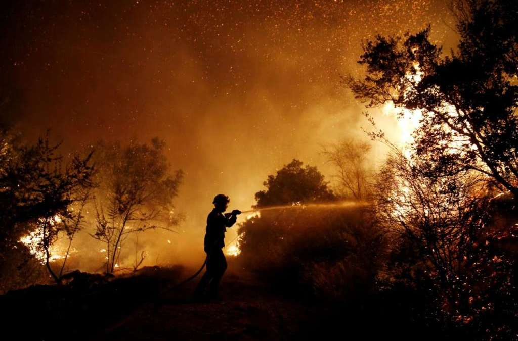 Athens Wildfire Spreads to Three Towns, Destroys Homes