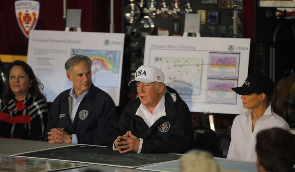 Trump Surveys Harvey Disaster Zone