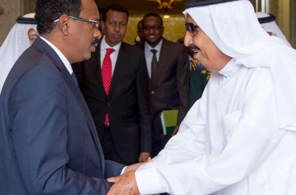 King Salman Receives Somali President