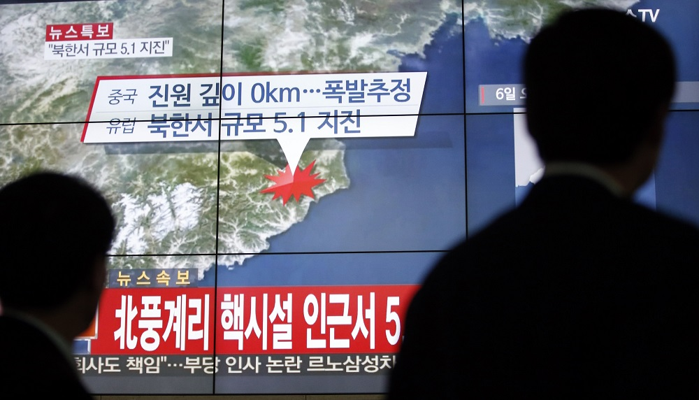 South Korea Dismisses China Claim Quake in North Caused by 'Explosion'